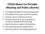 cosla report on portable ereading and public libraries