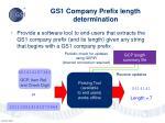 gs1 company prefix length determination