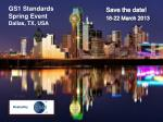 gs1 standards spring event dallas tx usa