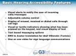 basic hearing accessibility features
