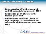 france case study results
