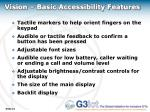 vision basic accessibility features