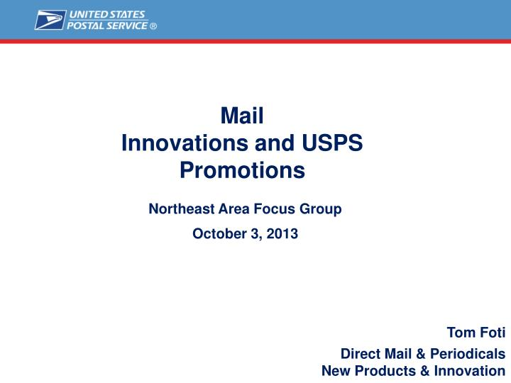 mail innovations and usps promotions n.