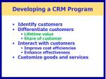 developing a crm program