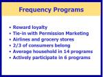 frequency programs