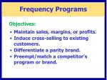 frequency programs1