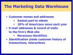 the marketing data warehouse