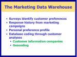 the marketing data warehouse1