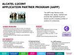 alcatel lucent application partner program aapp