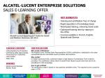 alcatel lucent enterprise solutions sales e learning offer