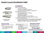 alcatel lucent omniswitch 6450