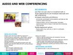 audio and web conferencing