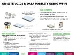 on site voice data mobility using wi fi