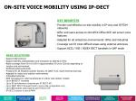 on site voice mobility using ip dect