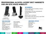 professional alcatel lucent dect handsets for on site voice mobility1