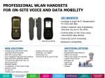 professional wlan handsets for on site voice and data mobility