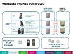 wireless phones portfolio