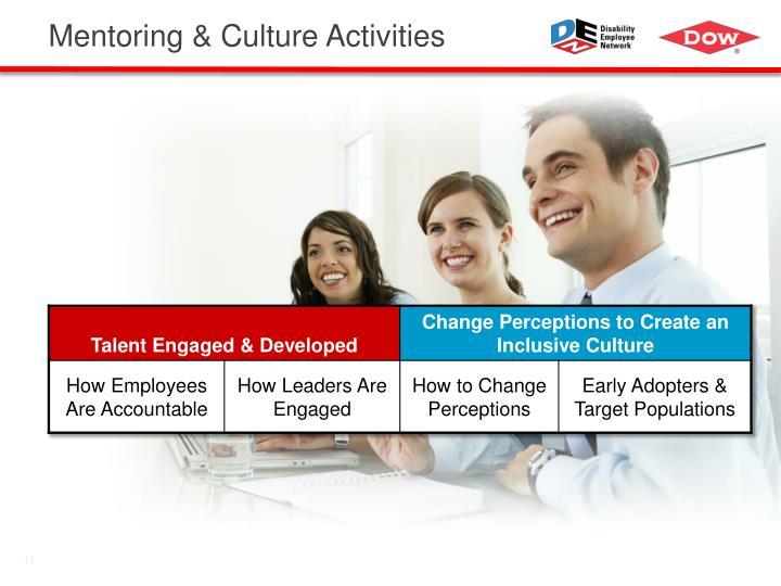 Mentoring & Culture Activities