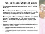 nemours integrated child health system