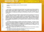mission of aids competence
