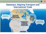 gateways aligning transport and international trade