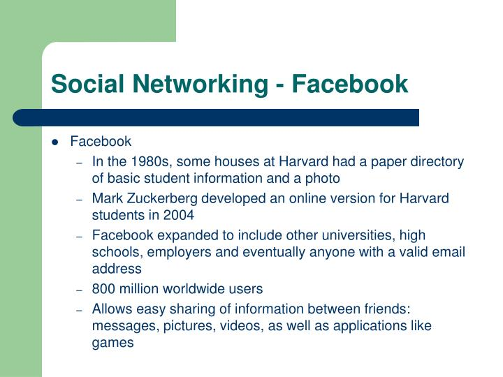 Social Networking - Facebook