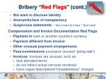 bribery red flags cont