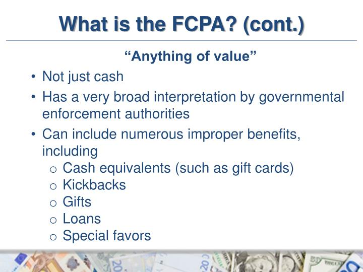 what is the fcpa cont