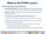 what is the fcpa cont4