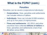 what is the fcpa cont5