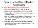 factors in the rise of modern nationalism
