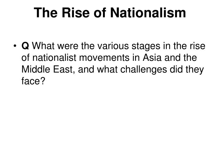 the rise of nationalism n.