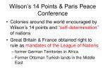 wilson s 14 points paris peace conference