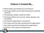 culture is created by
