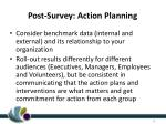 post survey action planning
