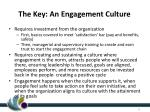 the key an engagement culture