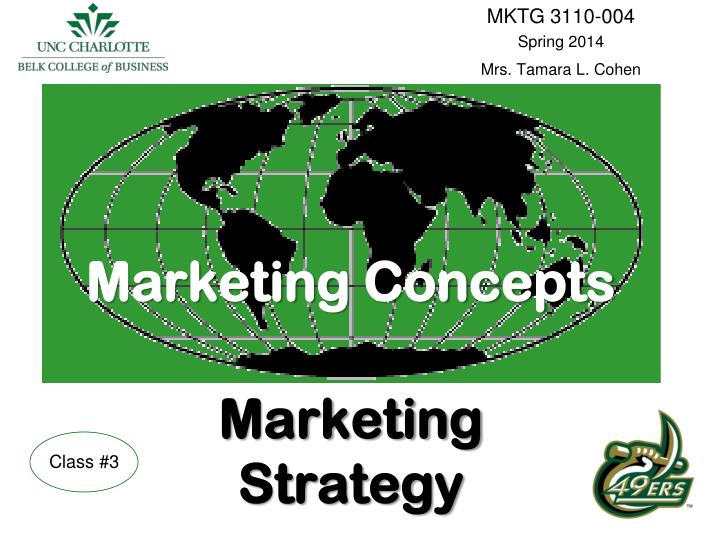marketing concepts marketing strategy n.