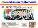 more mission statements