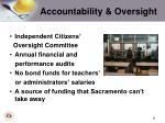 accountability oversight