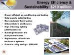 energy efficiency sustainability 210 million