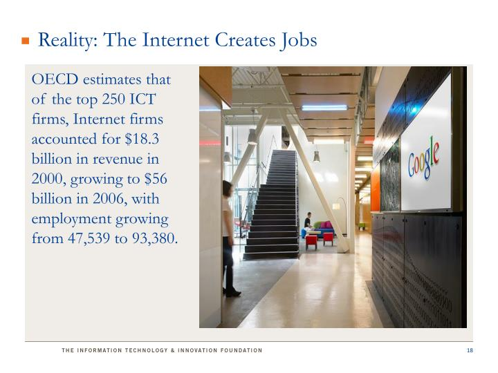 Reality: The Internet Creates Jobs
