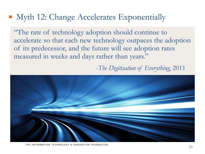 Myth 12: Change Accelerates Exponentially