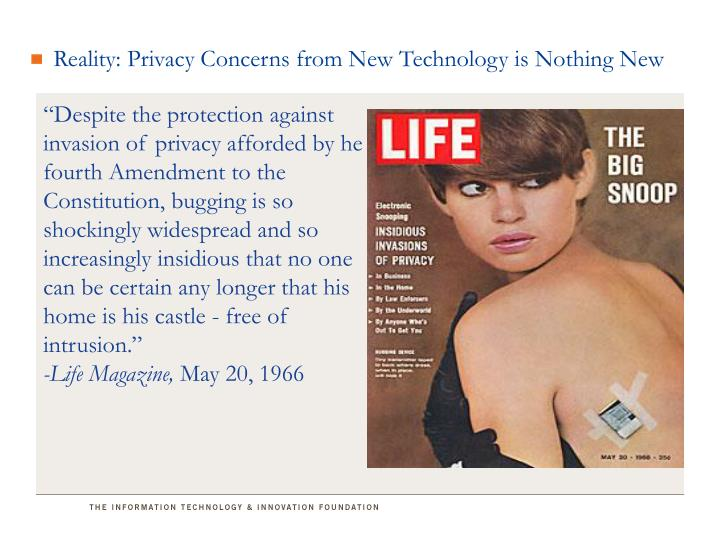 Reality: Privacy Concerns from New Technology is Nothing New