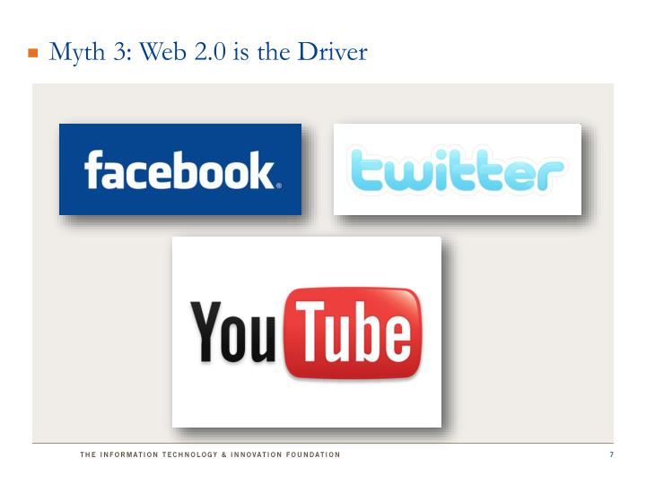 Myth 3: Web 2.0 is the Driver