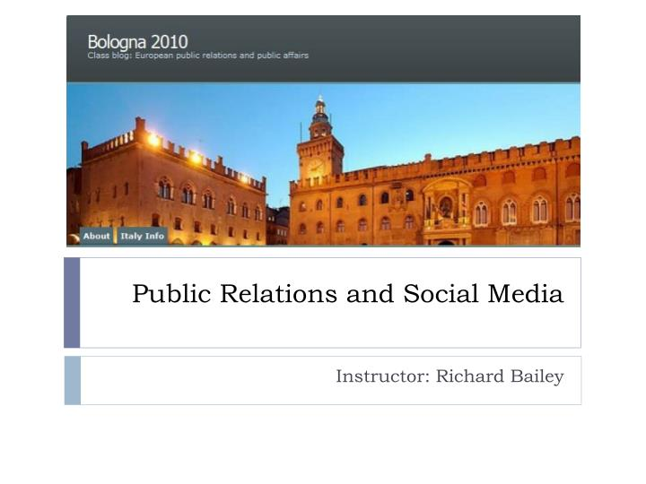 public relations and social media n.