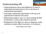 understanding pr