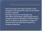 great society congress