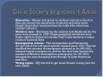 great society improves 4 areas