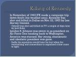 killing of kennedy
