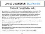 course description examination1